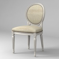 3d classical stool oval