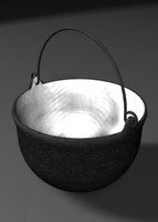 3ds max cast-iron kettle