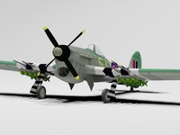 3d hawker typhoon model