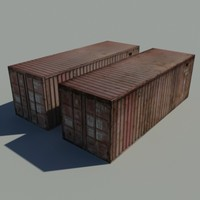 cargo container 3d obj