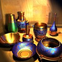 3d set vases model