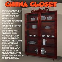 3d closet cabinet model