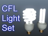 set cfl light bulbs 3d max