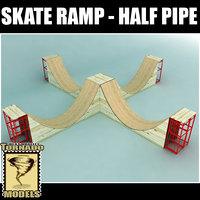 skate ramp - half pipe dxf