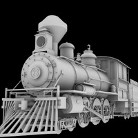 4-6-0 steam locomotive 3d obj