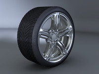 3d audi rs6 alloy wheel