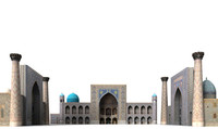3ds max registan samarkand uzbekistan