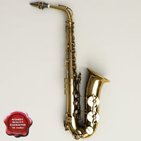 3d model saxophone details modelled