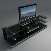 Shelf with LCD TV 1