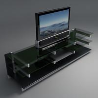 3d model shelf lcd tv