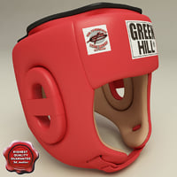 3d model of training boxing helmet