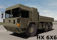 3d model man hx 6x6 military