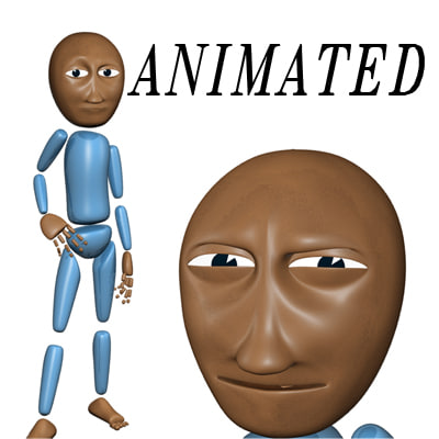 rigged cartoon character 3d model - Cartoon Character... by Sunup3D