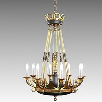 classic  mariner chandelier forge brass