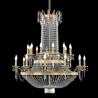 3d crystal classic chandelier
