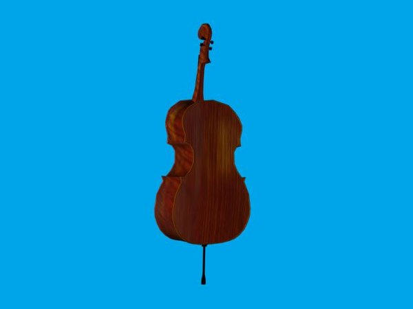 3d model musical instrument cello - Cello... by Andre Linoge
