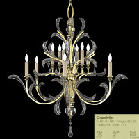 fine art lamps beveled arcs chandelier 701340st
