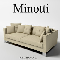 3d minotti pollock modern model