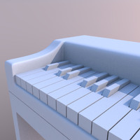 3d model piano digital