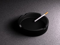 Ashtray with a cigarette