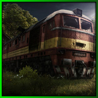 Diesel train  (High detail) Sergei