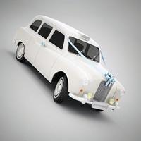 3d taxi wedding model