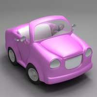 maya cartoon car cabriolet