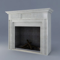 3d classic fireplace