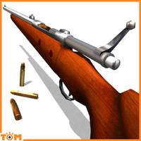 elephant gun rifled 3d model