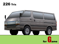 toyota hiace lowpoly