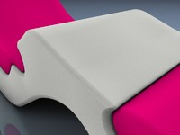 3ds max ergonomic chaise