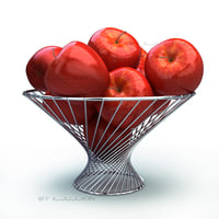 Basket apple red