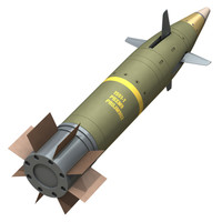 gps guided artillery munition c4d