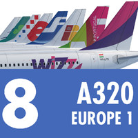 Airbus A320 Collection. Eight Europe Airlines 1