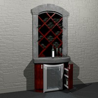 build-in wine cellar 3d model