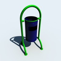 3d trash boxes model