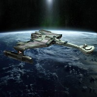 Alien space cruiser