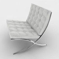 barcelona chair 3d 3ds