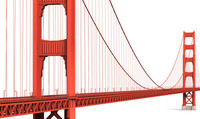 3d model golden gate bridge