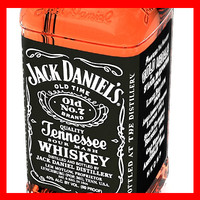 jack daniels bottle whisky glass 3d max