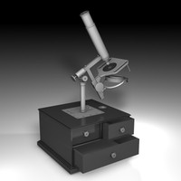 3ds max antique microscope