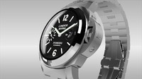 panerai watches italian 3d model