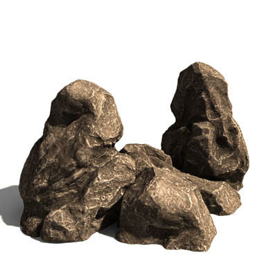 rock 3d model - stones 3 GR... by RaaYaar