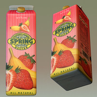 3d strawberry banana juice