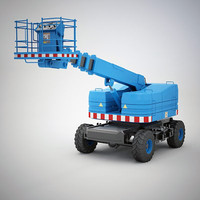 wheeled aerial work 3d model
