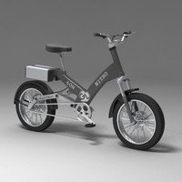 electric bike 3d model
