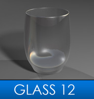 3d stemless wine glass