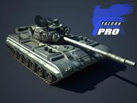 3d model t72 russian tank