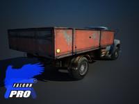 zil russian truck 3d model