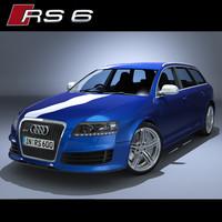 audi rs6 rs 3d model